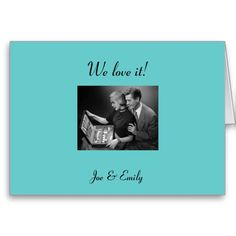 Retro Thank You Cards - Wedding Gifts