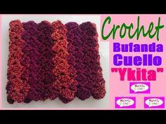 Bufanda Cuello Collar a Crochet Ykita por Maricita Colours - YouTube