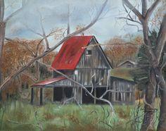 Title  Misty Days Barn  Artist  Jan Dappen  Medium  Painting - Oil On Canvas