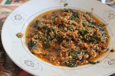 Benketaro Palava sauce w/ cocoyam leaf  Of all the Ghanaian dishes we tried, I think this was my favorite. This version had egg in it, an...