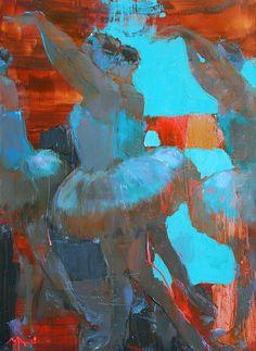 Ballet, 150x110 by Alina Maksimenko Paintings, Art, Oil on canvas, Postimpressionism