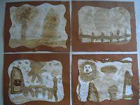 ontwikkelingsgericht onderwijs in groep 3: sepia foto's met oploskoffie...