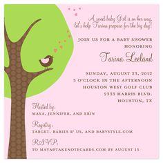 modern baby shower invitations pink modern tree baby shower invitation einvite baby