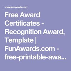 Free Award Certificates - Recognition Award, Template | FunAwards.com - free-printable-award-certificates-nessie.pdf
