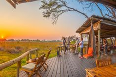 Oddballs Enclave is situated on the edge of Chief's Island, deep in the heart of the Okavango Delta. It's a small, intimate hideaway with spectacular sunset views over the floodplain that lies before it. Okavango Delta, Canoe, Safari, Remote, Scenery, Wildlife, Africa, Camping, Deep