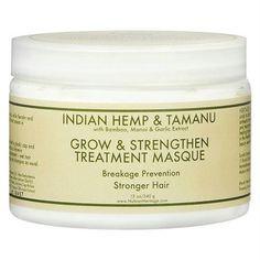 Nubian Heritage Hair Masque - Grow and Strengthen Treatment Indian Hemp and Tamanu - 10 oz