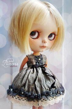 BLYTHE Silk Dress SILVER TWILIGHT By Odd Princess by oddprincess