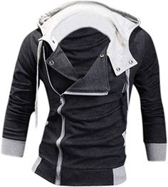 736a30fccb3 jeansian Men s Slim Fit Casual Top Jacket Hoodie Coat 8945 DarkGray S at Amazon  Men s Clothing store