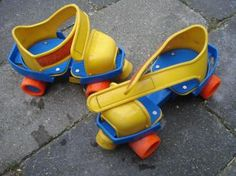Omg! I have a vague memory of almost killing myself going down a hill with these strapped on.