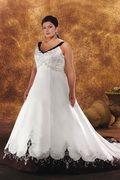 2009 New Color Style Plus Size Wedding Dresses Applique Sleeveless Chapel Train 29[PB-BONNYPLUSW29]