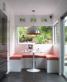 Bench seating: dining nook