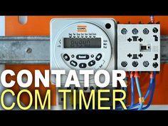 Contator acionado por Timer! Ligação com esquema! - YouTube