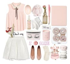 """""""Reminds me of my childhood"""" by excuseu ❤ liked on Polyvore featuring Maje, Chanel, Paper Mate, Cultural Intrigue, Jellycat, Sugar Paper, Monsoon and H&M"""
