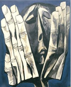 Oswaldo Guayasamín...one of my favorite artists and have even been to el capilla del hombre in ecuador