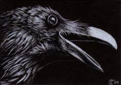 Картинки черного ворона меха