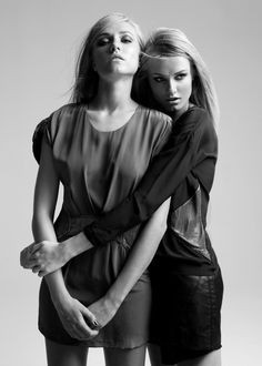 Twins Shoot - Photographer Sandro Bäbler, Stylist Catherine Bown, Make-Up Artist Renee De Sambento, Hair Stylist Kevin Epstein, Models Ieva Aniulyte & Aida Aniulyte of Vision Models