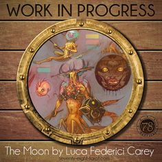 The next WIP (Work in Progress) from our 78 Tarot Nautical deck is character concepts by Luca Carey, who is creating the Moon. #78Tarot #WIP #Tarot #Art #LucaCarey #TheMoon Moon #TarotArt #Nautical #78TarotNautical #ConceptArt