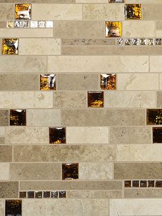 Dark And Light Color Subway Travertine Tiles Mixed With Brown Gl Iridescent