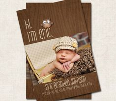 Baby Boy Birth Announcement Thank You by missbellaexpressions, $15.00