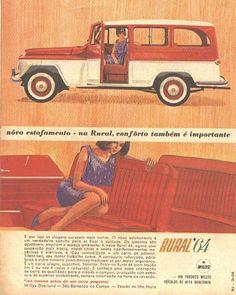 Você já deve ter reparado quando vê suas fotos de infância que os carros da época parecem bem mais velhos agora do que há alguns anos atrás... Old Advertisements, Car Advertising, Rural Willys, Ford Rural, Willys Wagon, Jeep Willys, Jeep Grill, Jeep Pickup, Old School Cars