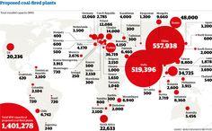 Coal fired plants map
