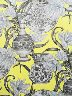 ROYAL 2196 #black-gray-silver #print-fabrics #yellow-gold