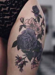 #Tattoo #Floral #Colorfultattoo