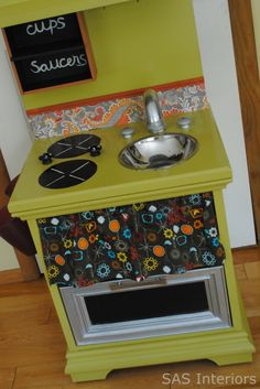 Another DIY Play Kitchen..furniture variations are endless in making this