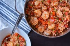 One Pot Paella - I substituted an 8oz box of yellow rice for the brown and spices and omitted the tomatoes. Delicious!