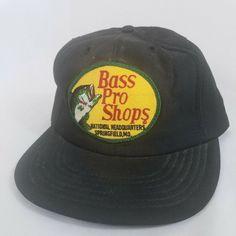 a842e0ec Vtg 80s Bass Pro Shops Snapback Hat Cap Black Insulated Patch Fishing  Outdoors #Cap