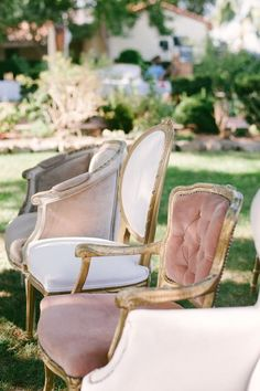 Vintage pink velvety furniture.