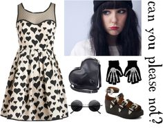 """""""Hearts and Bones"""" by didzsa22 on Polyvore"""