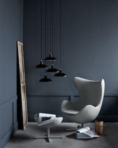 Chair & lamps   Fritz Hansen