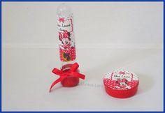 lembrancinha personalizada Minnie Vermelha