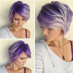 #purplehair #haircolor #hairporn #hairgoals #purpleroots #shorthairdontcare