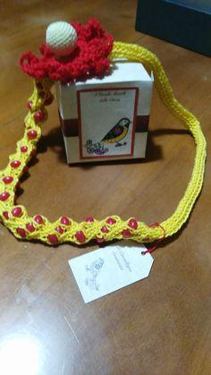 """Tecnica:tricotin +crochet +amigurumi_Serie """" Gioielli Monelli""""_Modello Anemone"""