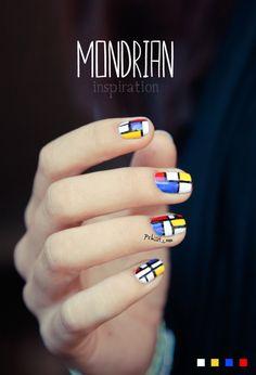 #Thesundaynailbattle // Mosaic'Nails inspiration Mondrian   PSHIIIT
