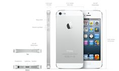 New iPhone 5 with A6 chip 4-inch Retina Display 1136 x 640 resolution 336 ppi, 8 mp and front camrea 2.1 mp panorama shot with two colour (Black & Slate or White & Silver).
