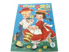 Vintage Children's Book 1950's Mother Goose by ThirstyOwlVintage