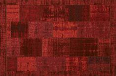 Betaalbaar vintage patchwork vloerkleed in rood en meer ...