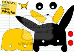 La máscara más sencilla del mundo! Pikachu pikapiiiii! Muchas más en www.mamaeva.net