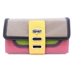 Sale: 	$19.99 | Designer InspiredCordova #Clutch - Colors Available  | Color: Pink/Stone |           Size : L 9.75 * H 6 * W 2,     Twist-lock closure,     Multiple organized compartments inside,     Faux Leather,     Silver-tone hardware,
