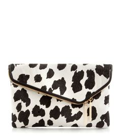 Debutante Asymmetrical Haircalf Clutch | New Arrivals | Henri Bendel