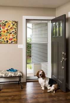 This Beautiful Entry Gets Its Impact From The White Screen Away Storm Door  With Retractable Screen. From Our Vendor, Larson Storm Doors.