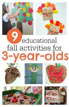 Great fall activities for 3-year-olds that aren't just cute, they are educational too.