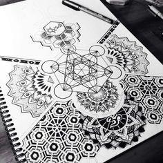 Geometric Tattoo Design Sacred Geometry Inspiration 60 New Ideas Geometric Patterns, Geometric Designs, Geometric Shapes, Leg Tattoos, Tribal Tattoos, Sleeve Tattoos, Mandalas Drawing, Hamsa Drawing, White Tattoos
