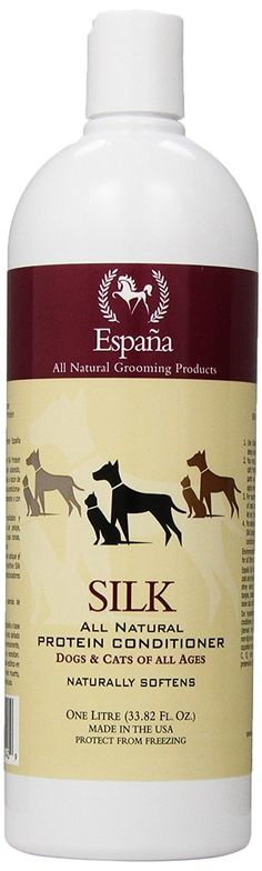 Espana Silk ESP1000DC Specially Formulated Silk Protein Conditioner for Dogs and Cats -- Stop everything and read more details here! : Cat products