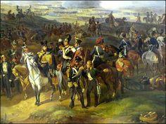 Bataille de Leipzig (fragments)   Alexander ZAUERVERD Big Battle, Napoleonic Wars, Prussia, 19th Century, Empire, France, Painting, Colonial, Historia