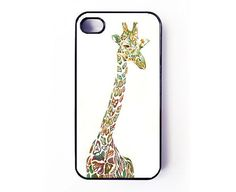unique iphone 4 case iphone 4s case  giraffe iphone 4 by Casely, $14.00