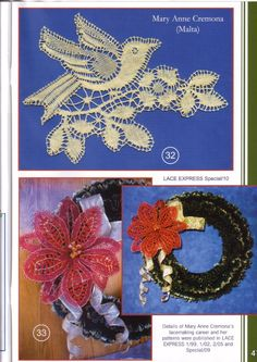 Bobbin Lace Patterns, Lacemaking, 4th Of July Wreath, Flowers, Inspiration, Macrame, Farmhouse Rugs, Lace Flowers, Bobbin Lace
